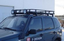 Багажник экспедиционный с безопасным креплением фар (сетка)