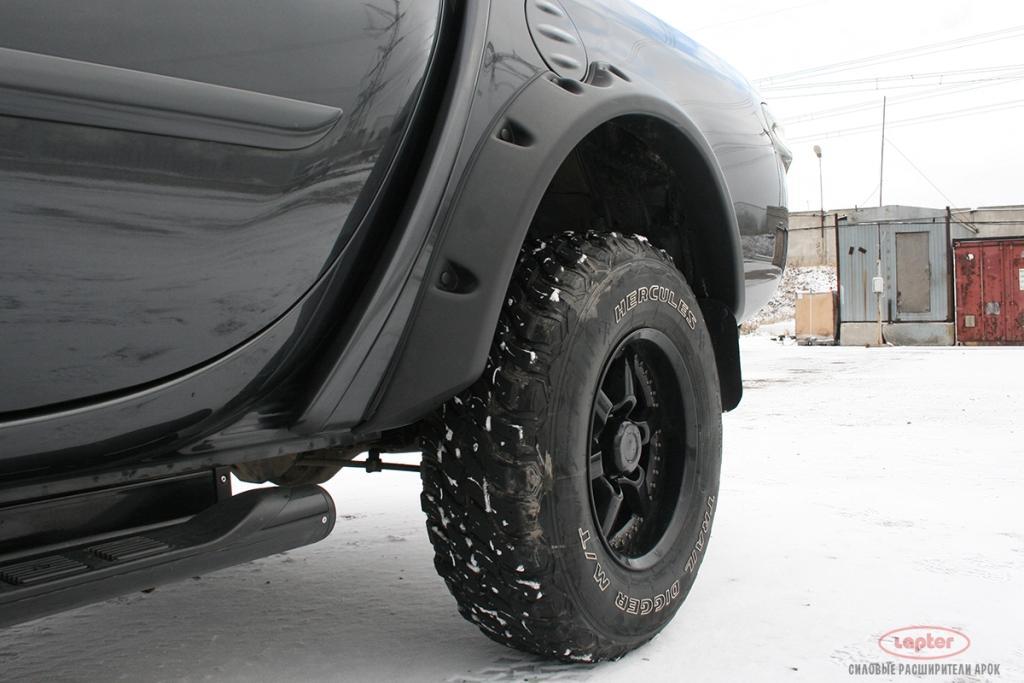 Расширители колёсных арок из abs пластика (цвет: чёрный, серебро, под окрас) для mitsubishi l-200