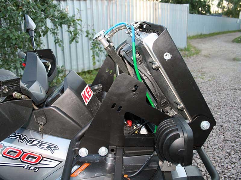 Вынос радиатора на квадроцикле стелс своими руками