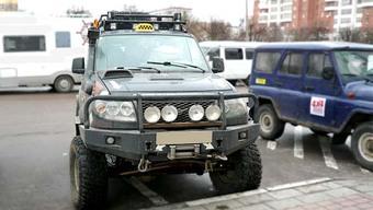 Бампер OJ передний УАЗ Патриот с площадкой,кенгурином под штатные п/т фары