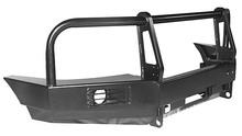 Бампер OJ передний УАЗ Патриот с площадкой,кенгурином,под штатные п/т фары и с кронштейном доп.фар