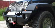 Бампер OJ передний Jeep Wrangler JK, c площадкой под лебедку и вырезами под фары