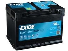 Аккумуляторная батарея EXIDE EK 700 70 Ач