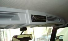 Полка верхняя лобового окна под магнитолу УАЗ серая