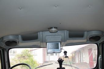 Полка верхняя лобового окна под магнитолу Буханка