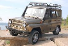 Бампер СИМБАТ передний УАЗ Hunter/3151/469 с оптикой и площадкой под лебёдку