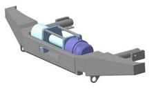Бампер OJ передний НИВА с площадкой под лебёдку без кенгурина