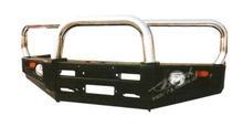 Бампер PowerFul передний Nissan Patrol Y60 дуга хром