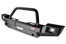 Бампер РИФ передний Jeep Wrangler JK 2006+ с доп. фарами и центральной защитной дугой