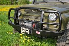 Бампер РИФ передний УАЗ с пилонным кенгурином усиленный