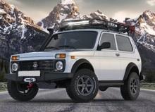 Бампер RIVAL силовой передний Lada 4x4/Urban с комплектом крепежа