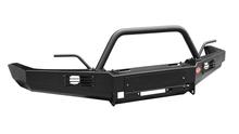 Бампер OJ передний ГАЗ Соболь (Газель)  с площадкой под лебедку, дугой, птф, защитой и рогами для намотки троса