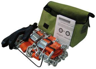Комплект браслетов противоскольжения R15-R21 (8 шт+сумка+перчатки) для шин шириной от 245 мм, усиленная цепь