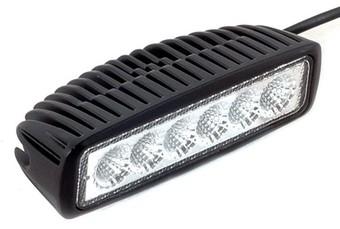 Светодиодная LED фара рабочего света 6 диодов 18W Epistar