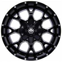 Диск Mayhem 5x139.7 R16 ET-10 7J Q110 черный глянцевый с серебристой окантовкой