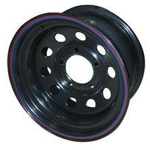 Диск стальной ORW НИВА 5х7 R15 ЕТ+25 черный с круглыми отверстиями