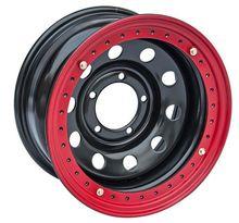 Диск колесный Off-Road Wheels УАЗ R16 5х139.7 ширина 8 вылет -24 черный с бедлоком (Красный)
