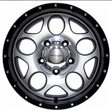 Диск SW 5x139.7 R16 ET-10 8J Q110 серебристый с черным кантом (№360)