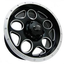 Диск SW 5x150 R16 ET-10 8J Q110 черный с серебристым кантом