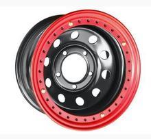 """Диск колесный Off-Road Wheels TOYOTA 16"""" 5х8 R16 черный (5*150 ET-14) с красным бэдлоком"""