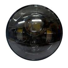 Фары головные LED  LR Defender 7 дюймов светодиодные, черная основа, комплект 2 шт.