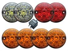 Фонари светодиодные, с цветными стеклами, комплект для Defender