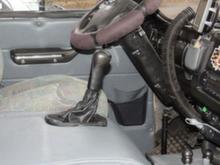 Кулиса КПП УАЗ-452 нового образца под лифт 50-100 мм троссовая (джойстик)