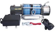 Лебедка Eletric Winch 12000lbs 12v с синтетическим тросом (влагозащищенная IP67)