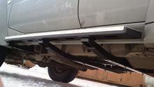Силовые пороги OJ Nissan Patrol Y61 2 поперечных балки, 2 кронштейна рамы