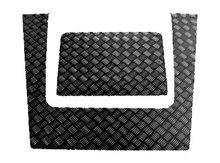 Накладки на капот Defender 2007+ рифленка, ЧЕРНЫЕ, комплект