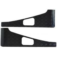Накладки на крылья  Land Rover Defender из рифленого алюминия, черные (пара).