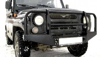 Бампер OJ передний УАЗ Хантер с площадкой и кенгурином стандарт