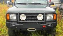 Бампер OJ передний Disco II с площадкой под лебёдку и вырезами под ПТФ