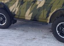 Пороги силовые (защита карниза из трубы) НИВА 2121