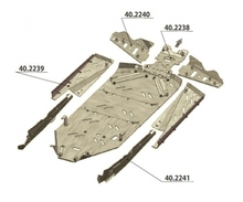 Защита рычагов для квадроцикла  POLARIS PZR XP900 2011-
